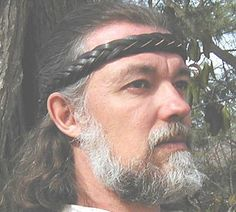 Our Braided Leather Headband, a custom sized, 5 Strand Mystery Braid shown here in black. Viking Battle, Viking Warrior, Renaissance Costume, Renaissance Fair, Crystal Holder, Leather Headbands, Circlet, Time Shop, Braided Leather