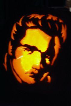Elvis pumpkin I carved.