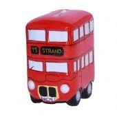 Retro red Routemaster London double decker bus money boxes