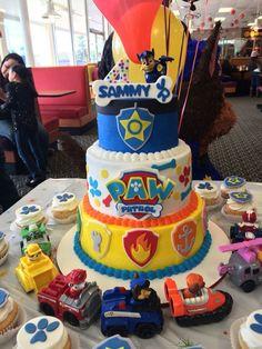 Paw patrol birthday cake Facebook.com/sweetkreationsbybecky: