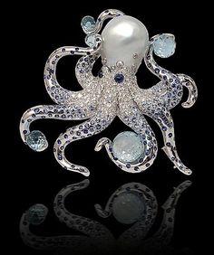 Yael diamond, aquamarine, pearl, sapphire.