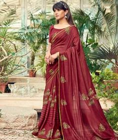 Chanderi Silk Saree Chanderi Silk Saree, Silk Sarees, Long Cut, Blouse Online, How To Dye Fabric, Color Shades, Festival Wear, Sari, Formal Dresses