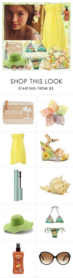 """""""Summer Splash in the Sun"""" by julyralewis ❤ liked on Polyvore featuring MANGO, Coast, Peter Grimm, Gossip Collection, Hawaiian Tropic, Tod's and Betsey Johnson"""