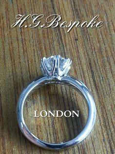 Diamond ring. Handmade to order from:  https://www.facebook.com/HattonGardenBespokeDiamondJewelleryWorkshop/?fref=ts
