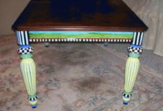 hand painted dining room tables
