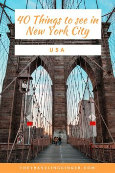 40 things to see and do in New York City. Your comprehensive guide to everything there is to see and do in New York City. This guide to New York City includes top tips of places to go, things to do and see. Pin this for tips for your itinerary to NYC. #nyc #newyorkcity #newyork #newyorkcitytravel