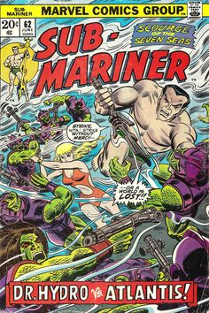 "the-spinner-rack: ""Sub-Mariner #62 Cover (by John Romita, 1973) """