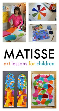 Henri Matisse art lessons for children, famous art lessons for children, easy Matisse projects