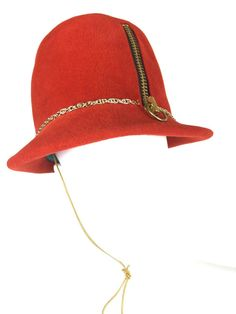 3b5d46349ec View this item and discover similar hats for sale at - Yves Saint Laurent  Mod zipper fedora hat.