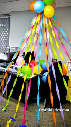 Birthday surprise ideas balloons streamers 23 Ideas for 2019 Boss Birthday, Diy Birthday, Unicorn Birthday, Birthday Party Themes, Streamer Decorations, Streamers, Office Birthday Decorations, Birthday Traditions, Office Parties