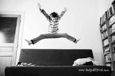 Tips for taking great jumping photos by Lisa Tichane.