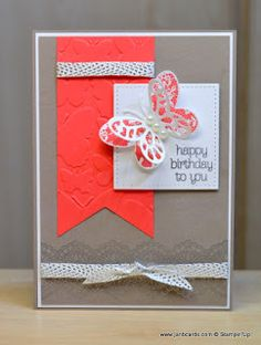 JanB Handmade Cards Atelier: Butterfly Banner Card by CrafteresaUK
