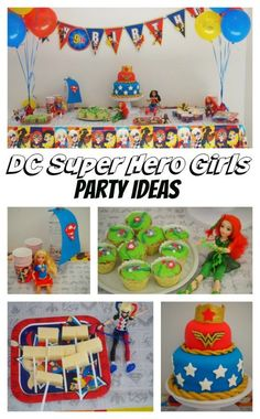 We were beyond excited to be given the opportunity to host a DC Super Hero Girls themed … Girls Party Decorations, Kids Party Themes, Party Ideas, Dc Super Hero Girls, Dc Super Heroes, Super Hero Food, 6th Birthday Parties, Girl Parties, Birthday Ideas