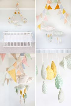No- I am not pregnant... but think this is such a light and sweet accent for a nursery... one of these days!