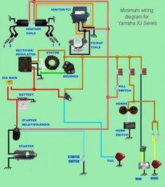 yamaha xj series minimum wiring diagram #scooter #scooter #yamaha