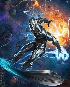 Silver Surfer by Skan Srisuwan - Marvel Comic Book Artwork Marvel Comics Art, Bd Comics, Marvel Comic Books, Marvel Heroes, Rogue Comics, Captain Marvel, Marvel Avengers, Marvel Comic Character, Marvel Characters