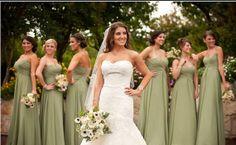 Olive Green Chiffon Mix Bridesmaids DressProm by DidoCouture, $99.00