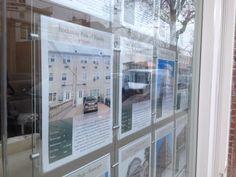 Image result for diy hanging a flyer in window storefront