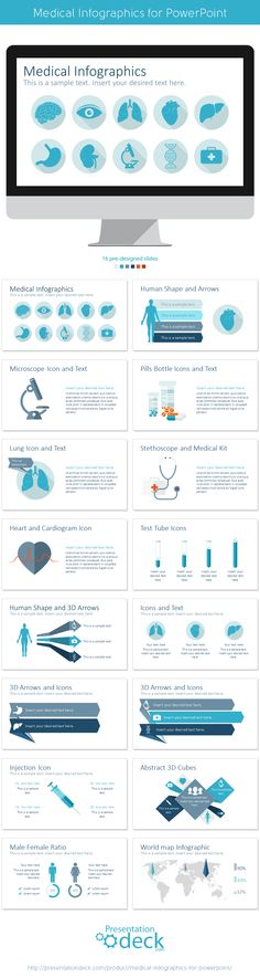 Medical and Healthcare Pitch Deck Pitch, Medical and Decking - medical report template