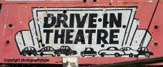 Drive In Theater Sign Vintage by jwhanley, via Flickr