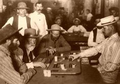 Faro is a gambling card game that originated in France in the late century. It soon spread to America and became the favored game in the Old West. Westerns, Old West Saloon, Las Vegas, Wyatt Earp, Unexplained Phenomena, Into The West, American Frontier, Le Far West, Coincidences