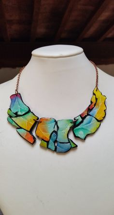 Polymer clay Shapes... necklace original design by ImpastArte