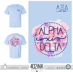 #402ink #402style 402ink, Custom Apparel, Greek T-shirts, Sorority T-shirts, Fraternity T-shirts, Greek Tanks, Custom Greek Apparel, Screen printed apparel, embroidered apparel, Sorority, AXID, Alpha Xi Delta, Letters, Comfort Colors