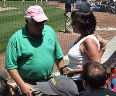 Conversation about Who Is The Guy in the Pink Hat Behind Home Plate at Wrigley Field? from www.dnainfo.com