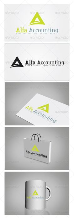 Alfa Accounting - Logo Design Template Vector #logotype Download it here: http://graphicriver.net/item/alfa-accounting-logo-template/5899740?s_rank=1467?ref=nexion