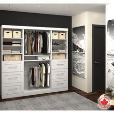Bestar - Boutique White Stowaway Closet