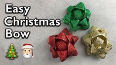 Easy Christmas Ribbon Bow Tutorial