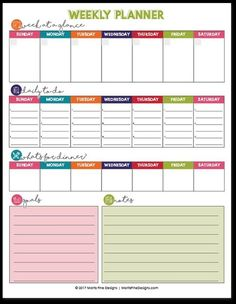 Planner Free, Weekly Planner Template, To Do Planner, Printable Calendar Template, Planner Pages, Printable Planner, Free Printables, College Planner, College Tips
