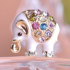 Fashion Women Elephant Brooches Brooch Clip For Scarf Enamel Animals Hijab Pins Personality Jewelry Parure Bijoux Summer Style