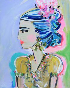 Frida Kahlo Print Modern 8 x 10 11x14 16x20 24 x 30 30 x