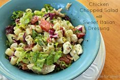 Table for 7: Chicken Chopped Salad with Sweet Italian Dressing #SundaySupper