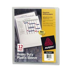Avery Heavy-Duty Plastic Sleeves, Polypropylene, Letter Size, Clear, 12 per Pack Desktop Organization, Paper Organization, Organizing, Binder Templates, Paper News, Paper Clutter, You Loose, Letter Size, Packing
