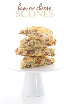 Delicious low carb savoury scones packed with ham and cheese. These grain-free biscuits are perfect with soup or salad. THM Banting LCHF Recipe. via @dreamaboutfood