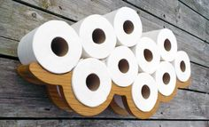 Novelty Wall Art Solid Oak Toilet Roll Holder                                                                                                                                                     More
