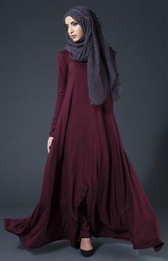 Red Coal Chiffon Silk Hijab | Aab
