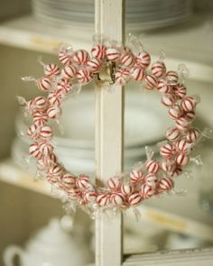 Christmas Candy Wreath: Great recipes and more at http://www.sweetpaulmag.com !! @sweetpaul