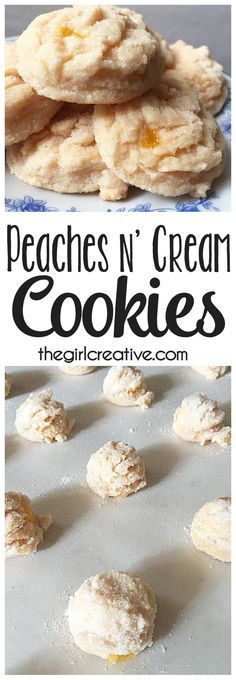 Peaches n' Cream cookies are the perfect treat for your sweet tooth. This cookie recipe is simple and oh so delicious!