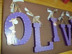 Hand Painted Wooden Letters for Nursery Decor, Kids, Gifts, & Home