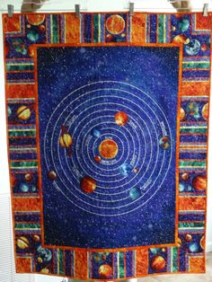 1000 images about things i made in 2014 on pinterest for Solar system fabric panel