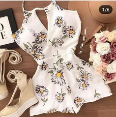 Enteros cortos Summer Outfits For Teens, Dresses For Teens, Simple Outfits, Trendy Outfits, Casual Dresses, Cute Outfits, Kohls Dresses, Dresses Dresses, Summer Dresses