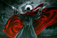 The Shadow - Black Board, Greg Hildebrandt
