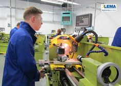 HT Brigham engineering apprentice Richard busy at work at the LEMA Academy in Birmingham