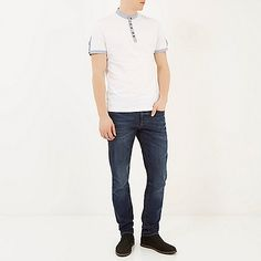 Dark wash Dylan slim jeans - slim jeans - jeans - men