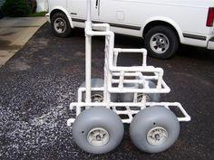 DIY beach wheelchair..