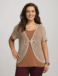 Plus Size Crochet Shrug