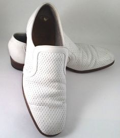 1a59b26439b Dacks Shoes White Leather Loafers Size 9D Spring Rockabilly Bespoke VTG  1980s  Dacks  LoafersSlipOns